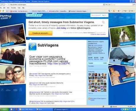 Background Twitter Submarino Viagens