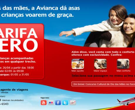 No mês de maio, crianças voam de graça na Avianca