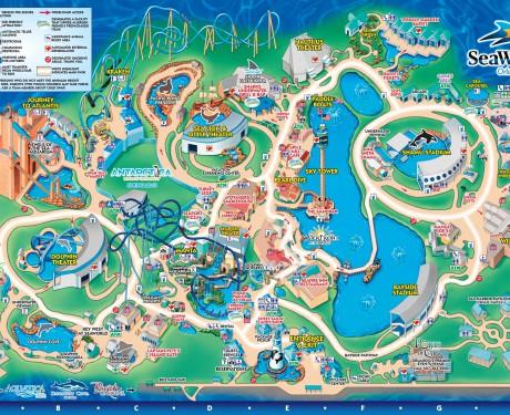 Roteiro para visitar o Sea World Orlando com crianças pequenas.
