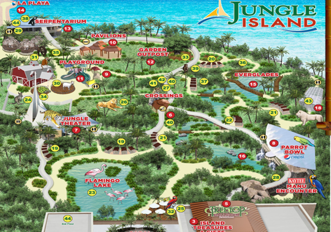 mapa Jungle Island