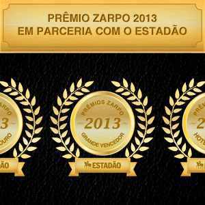 Prêmio Zarpo 2013: os melhores hotéis do Brasil segundo seus hóspedes.