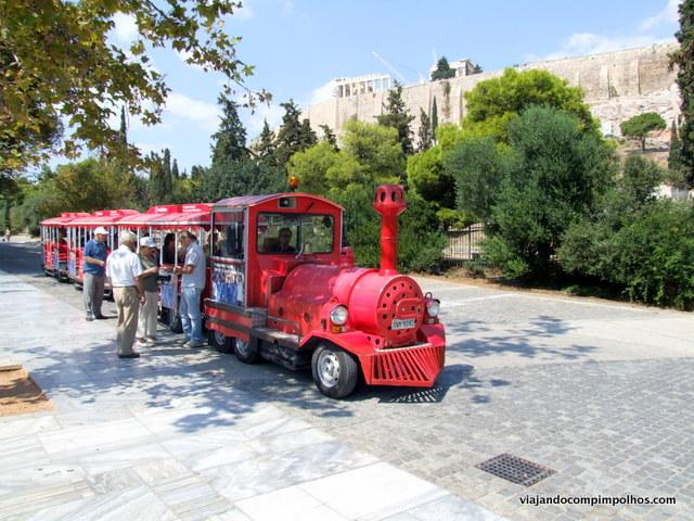 Trenzinho em Atenas