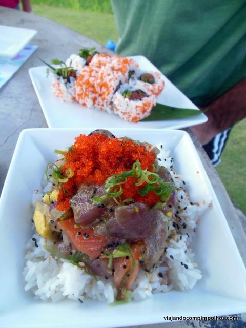 Poke, prato típico havaíano, Kauai