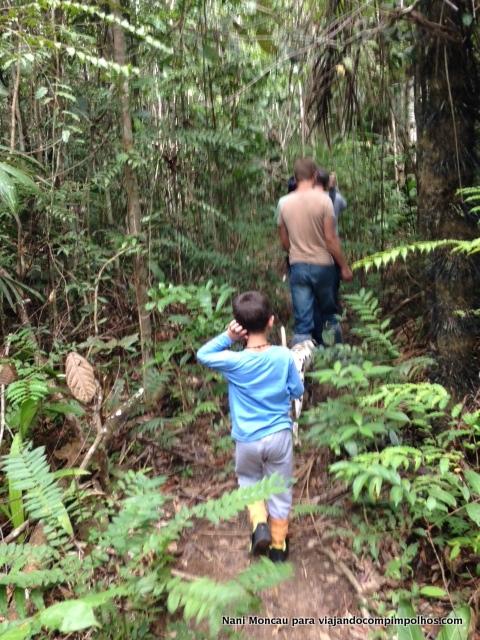 caminhada na selva