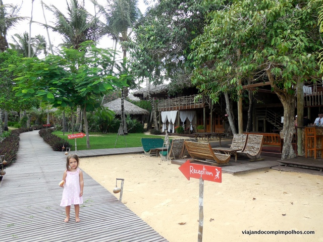 Vila Kalango entrada pela praia