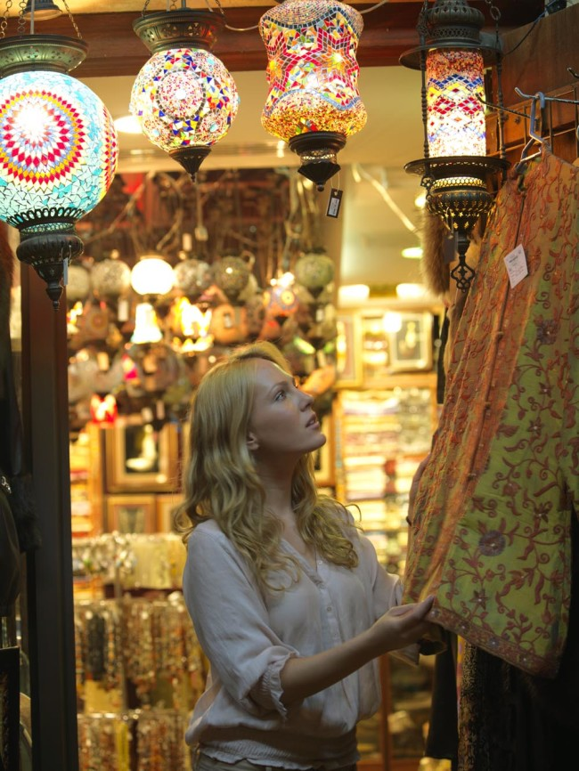 Tourist in Textiles Souq