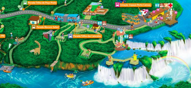 mapa-do-parque-Catartas-do-iguacu