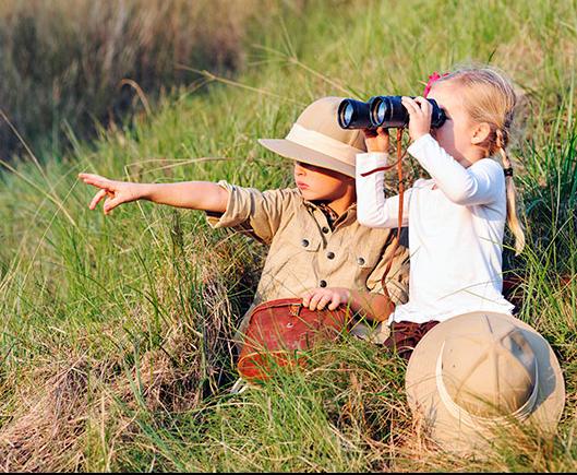 Safari com crianças