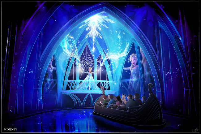 """The """"Frozen Ever After"""" attraction coming to Epcot in 2016 is an adventure fit for the entire family that will take guests through the kingdom of Arendelle. Guests will be transported to the Winter in Summer Celebration where Queen Elsa embraces her magical powers and creates a winter-in-summer day for the entire kingdom. """"Frozen Ever After"""" will be located in the Norway Pavilion at Epcot, which is one of four theme parks at Walt Disney World Resort in Lake Buena Vista, Fla. (Disney)"""