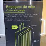 Regras e fiscalização das malas de mão