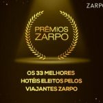 Prêmio Zarpo 2019: os melhores hotéis escolhidos pelos hóspedes com diárias a partir de R$254!